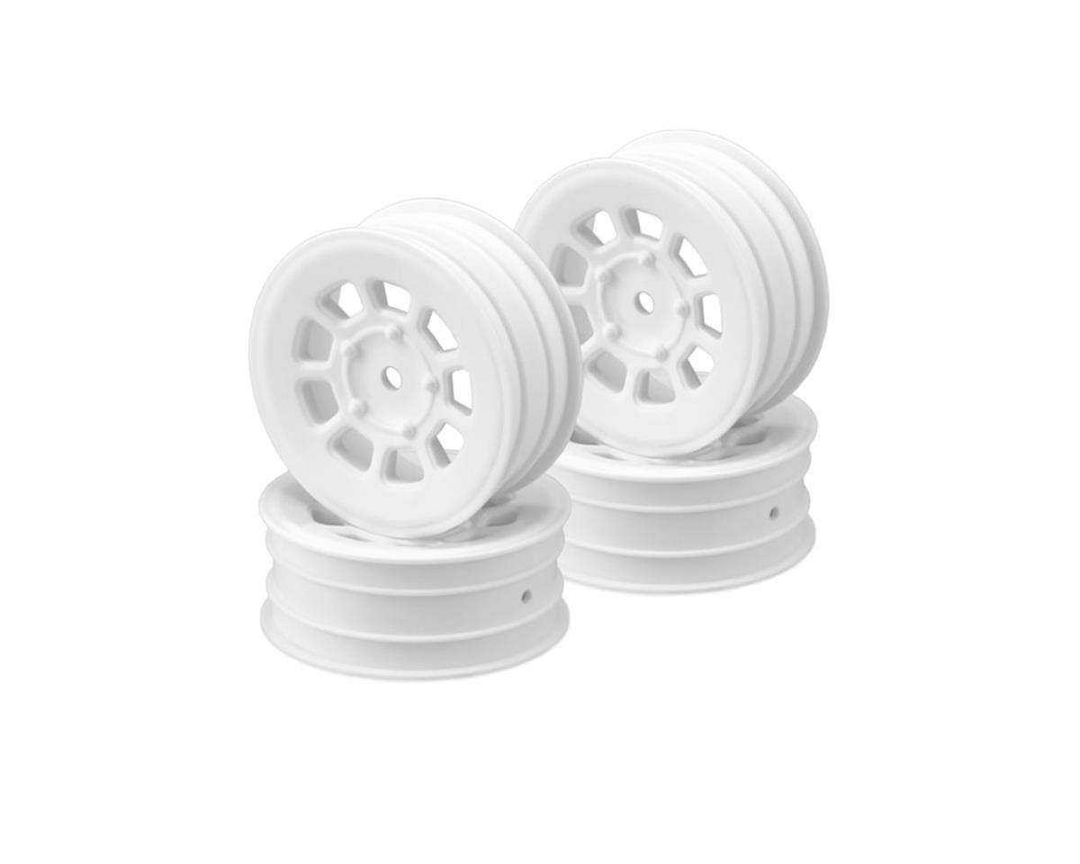 JConcepts 12mm Hex 9 Shot 2.2 Front Wheels (4) (B6.1/XB2/RB7/YZ2) (White)