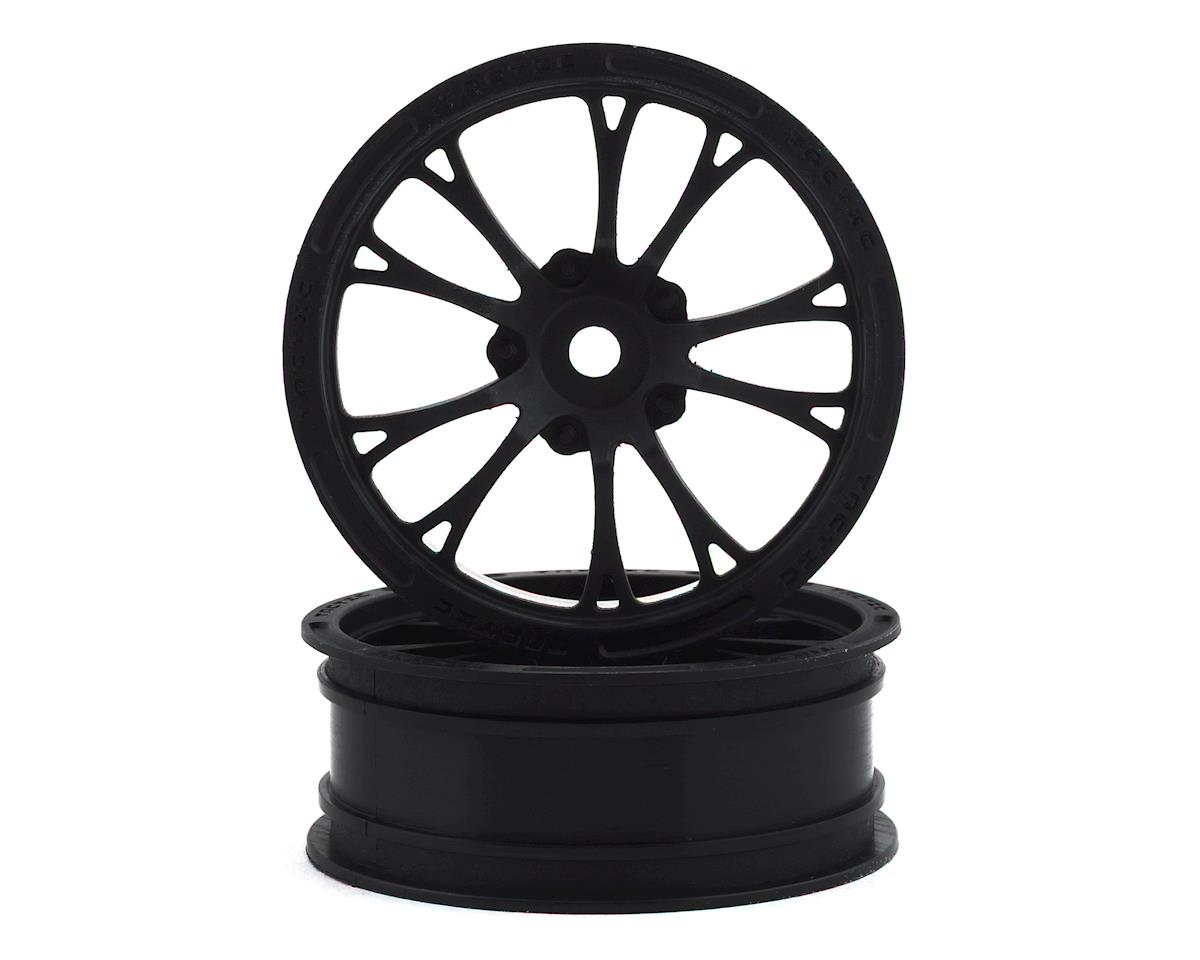 """JConcepts Tactic Street Eliminator 2.2"""" Front Drag Racing Wheels (2) (Black) 