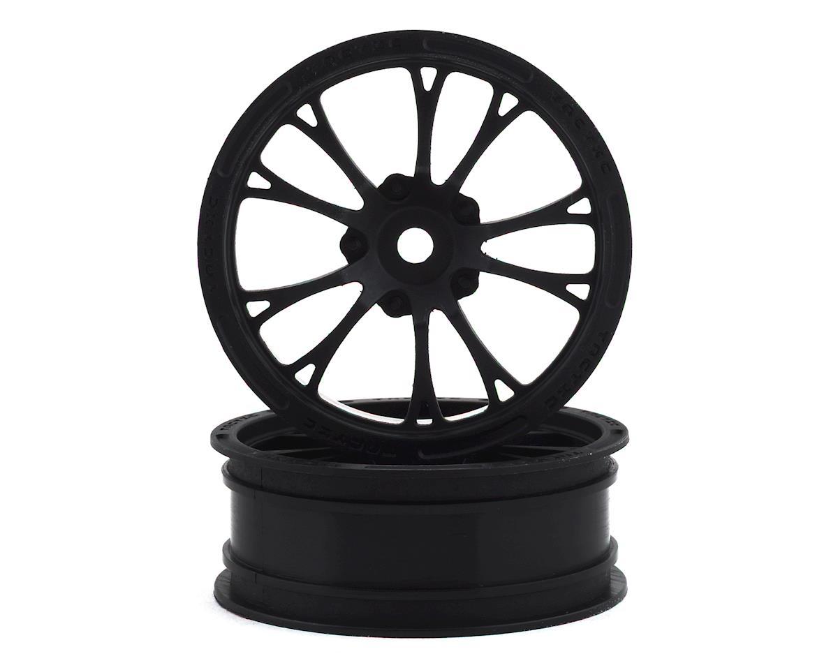 "JConcepts Tactic Street Eliminator 2.2"" Front Drag Racing Wheels (2) (Black)"