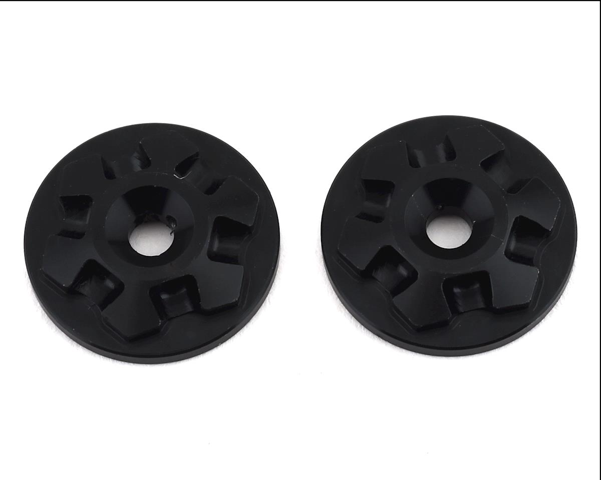 JConcepts Aluminum RM2 Clover Wing Button (Black) (2) (Serpent S811 Cobra 2.0)