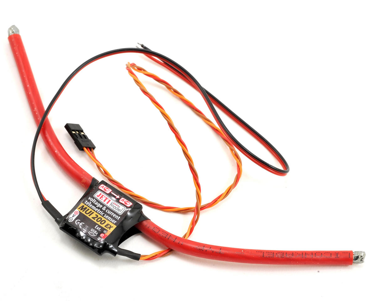 JETI Telemetry 200 AMP MUI EX Sensor (Current/Voltage/mAh)
