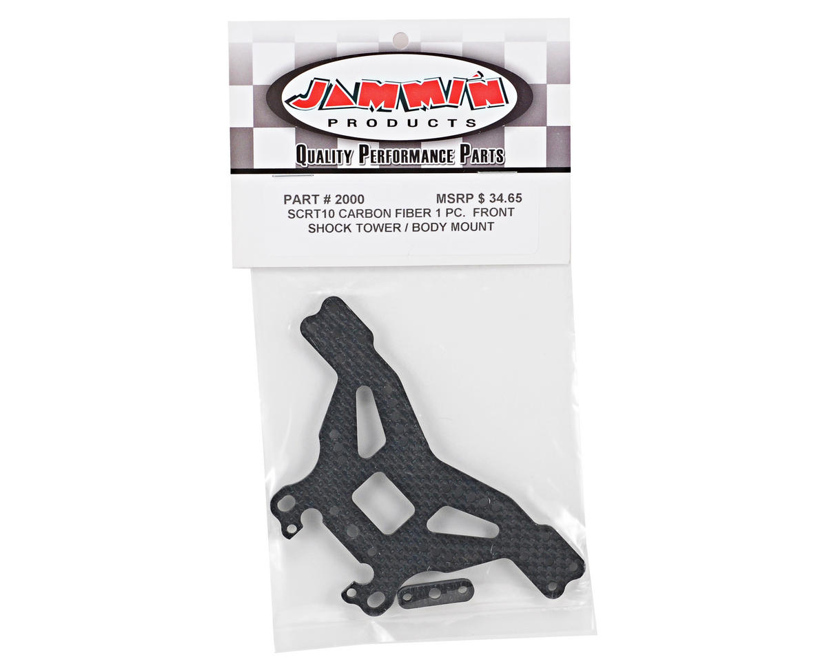 Jammin Products 4mm Carbon Fiber Front Shock Tower/Body Mount w/Spacer