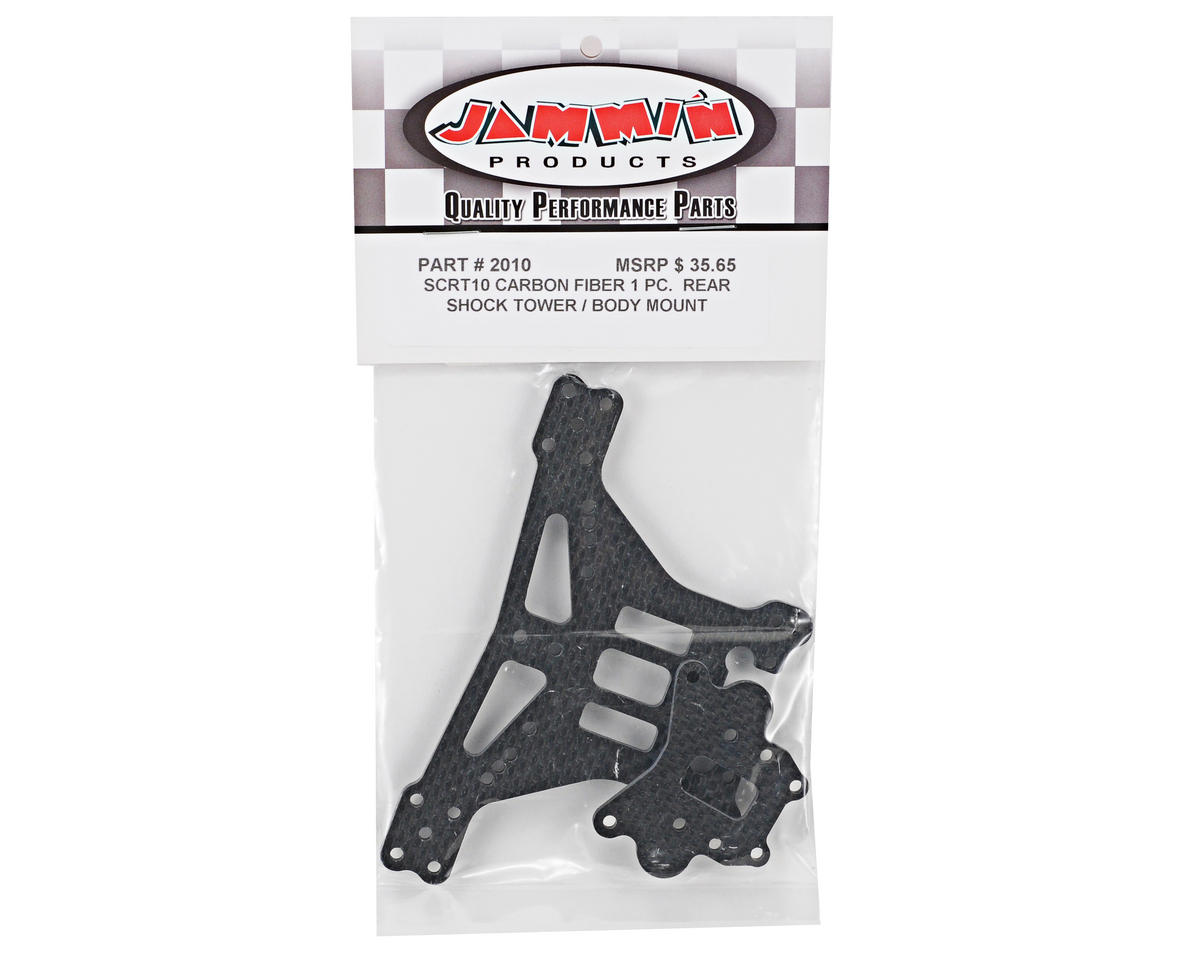 Jammin Products 4mm Carbon Fiber Rear Shock Tower/Body Mount w/Spacer