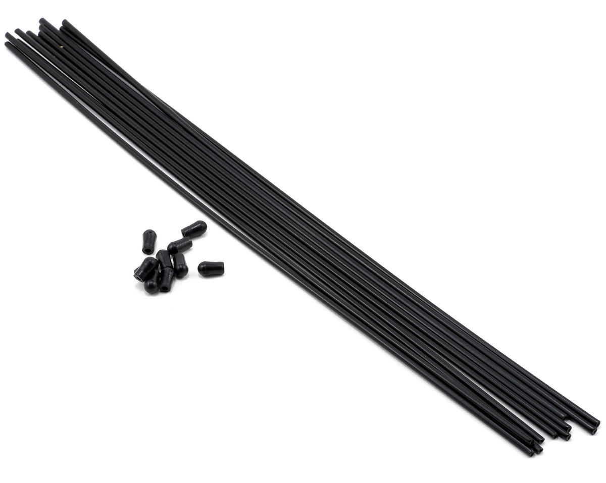 JQ Products Antenna Tubes w/Caps (Black) (10)