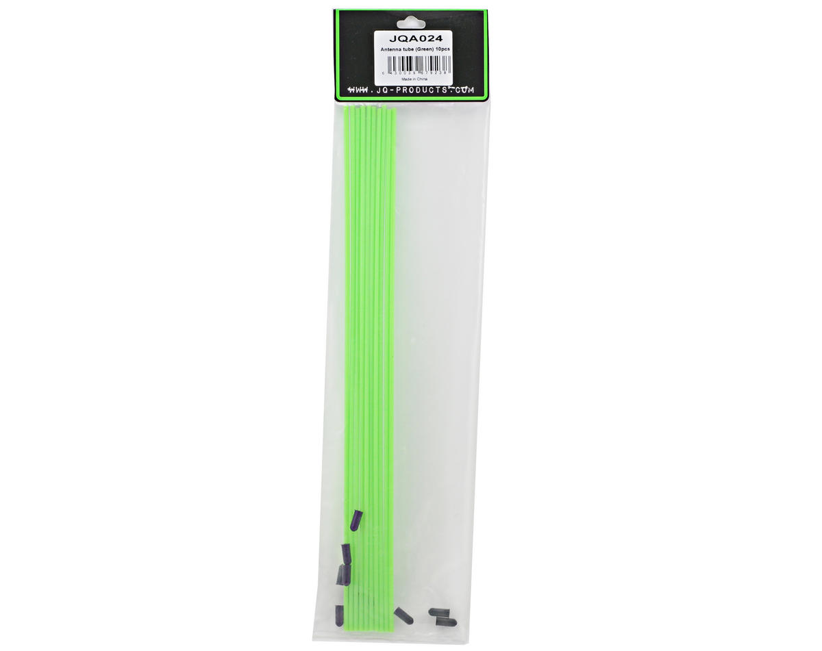 JQ Products Antenna Tubes w/Caps (Green) (10)