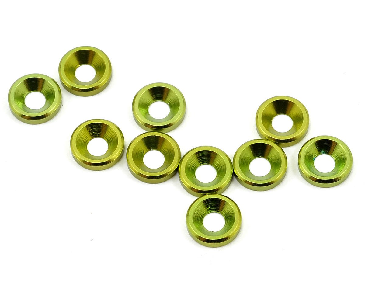 JQ Products M3 Countersunk Washer Set (10) (Green)