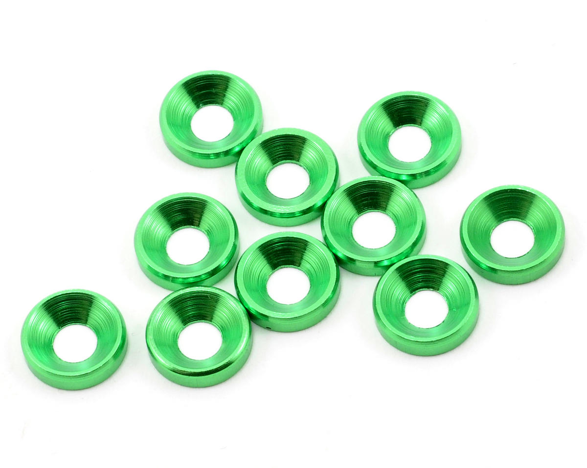 JQ Products M4 Countersunk Washer Set (10) (Green)