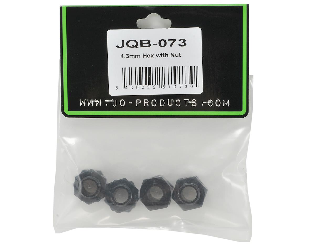JQRacing 4.3mm Hex Hub Set w/Wheel Nuts (4)