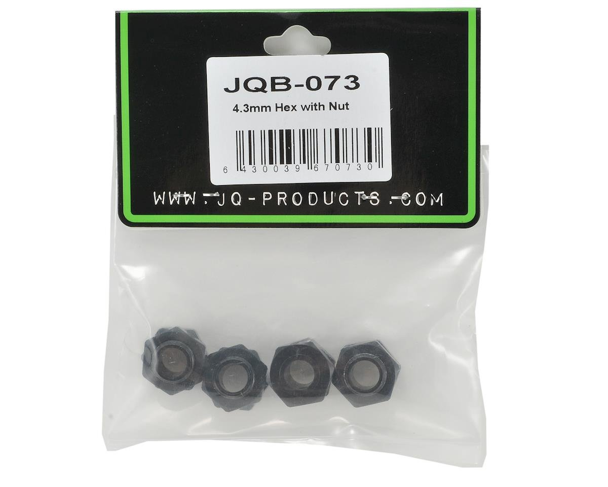 4.3mm Hex Hub Set w/Wheel Nuts (4) by JQRacing