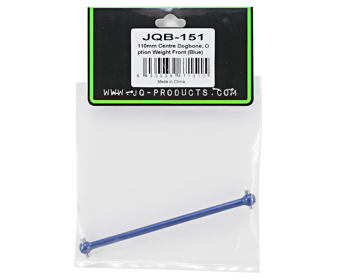 JQRacing 110mm Center Dogbone Driveshaft (Weight Forward) (Blue)