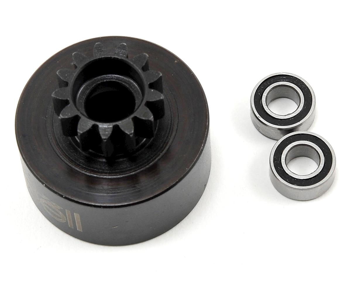 13T Clutch Bell w/5x10 Bearings by JQ THE Car (White)Racing