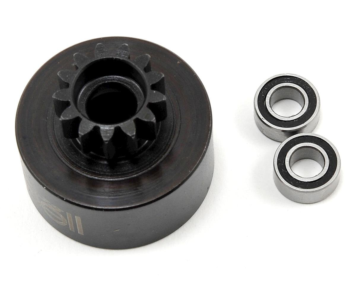 JQRacing 13T Clutch Bell w/5x10 Bearings (JQ Racing THE Car (White))