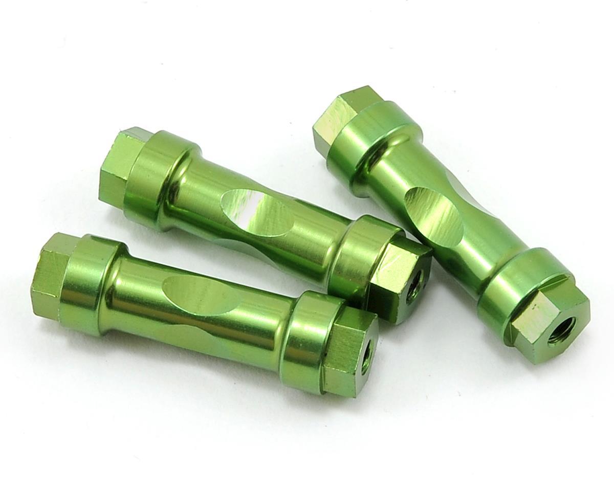 JQRacing Aluminum Wing Mount Post Set (Green) (3)