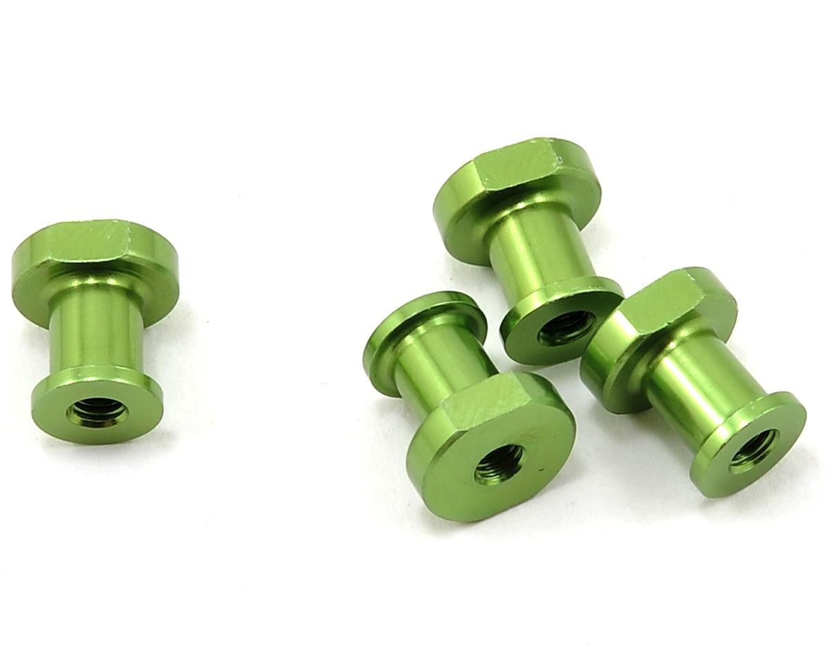 JQRacing Lightweight Aluminum Shock Holder Set (Green) (4)