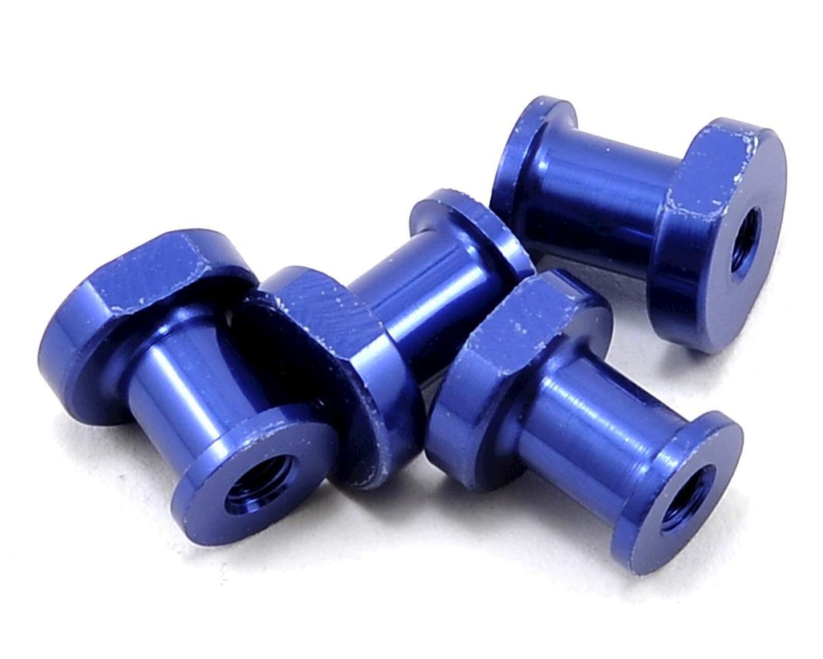 JQRacing Lightweight Aluminum Shock Holder Set (Blue) (4)