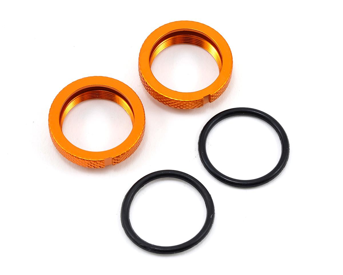 JQ Products Silk Shock Adjustment Nut & O-Ring Set (Gold) (2) (Yellow Edition)
