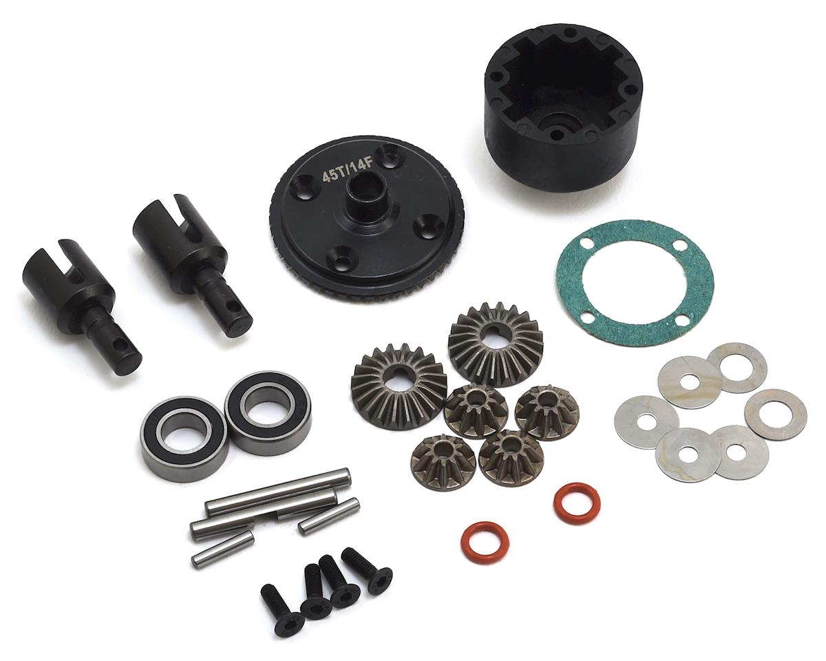 JQ THE eCarRacing Complete Front Differential Set (45/15) (Black Edition)