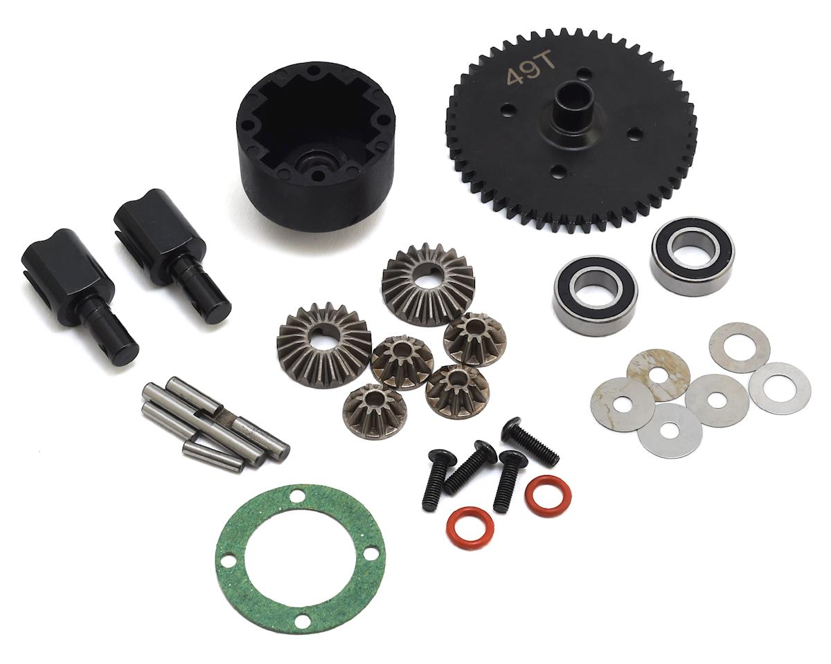 JQ THE eCarRacing Complete Center Differential Set (49) (Black Edition)