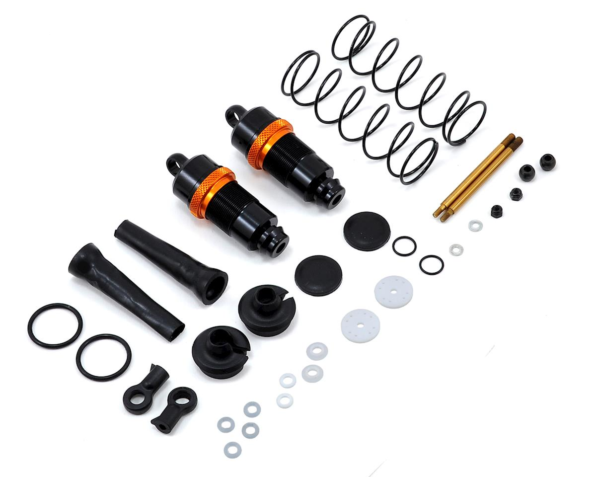 White Edition Complete 16mm Front Shocks w/Springs (2) by JQ THE Car (White)Racing