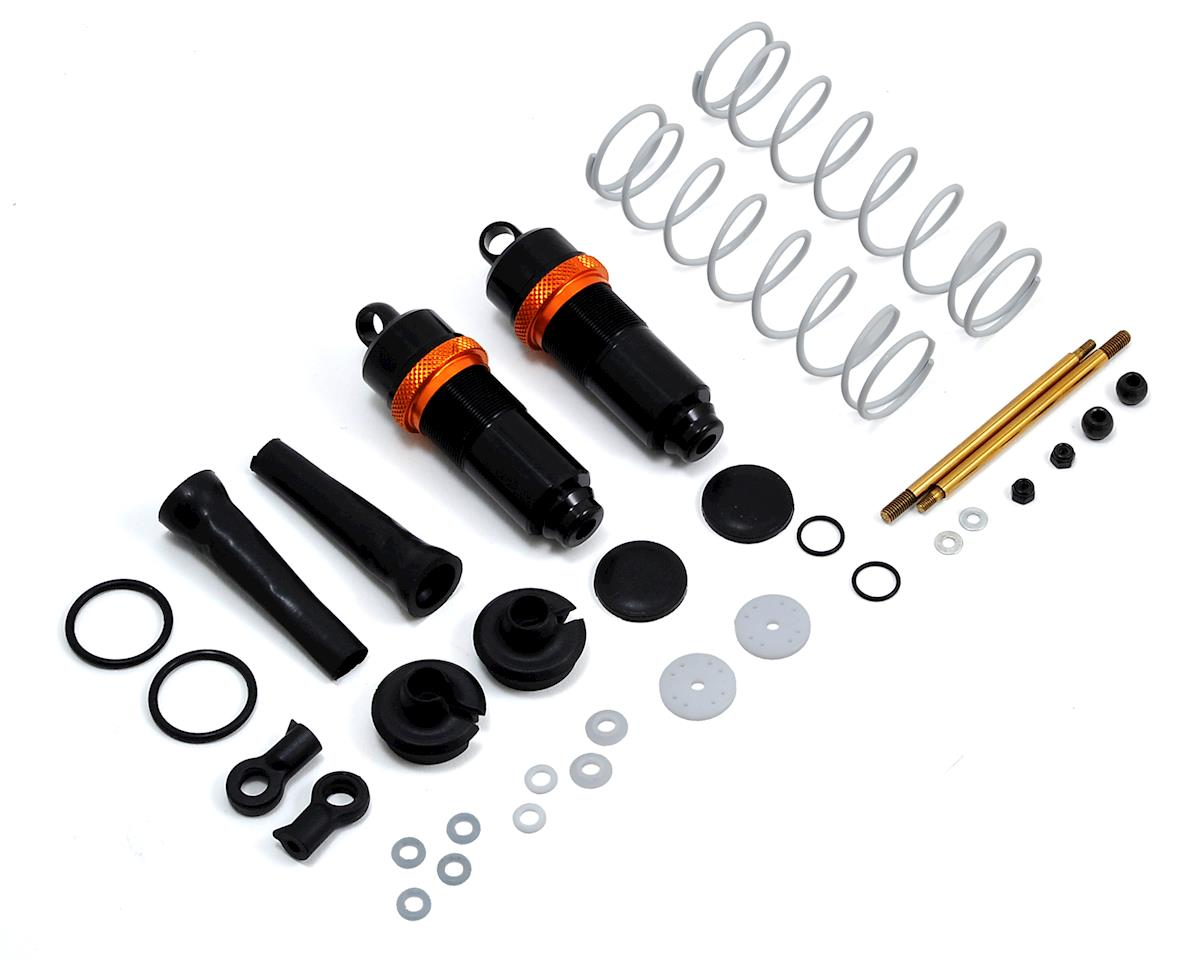 White Edition Complete 16mm Rear Shocks w/Springs (2) by JQ THE Car (White)Racing
