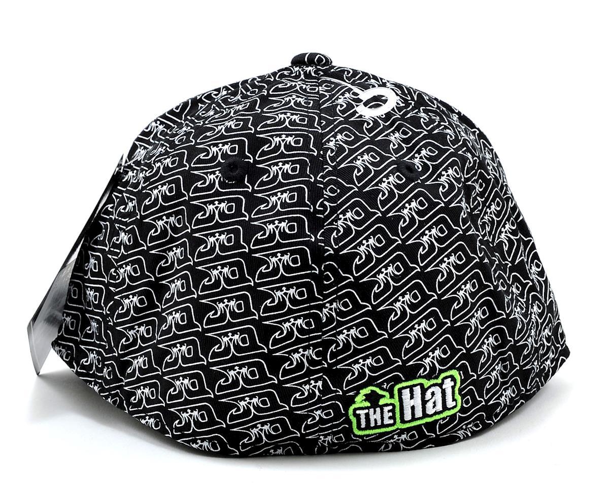 """JQRacing """"THE Hat"""" Flatbill FlexFit Cap (Large) (White)"""
