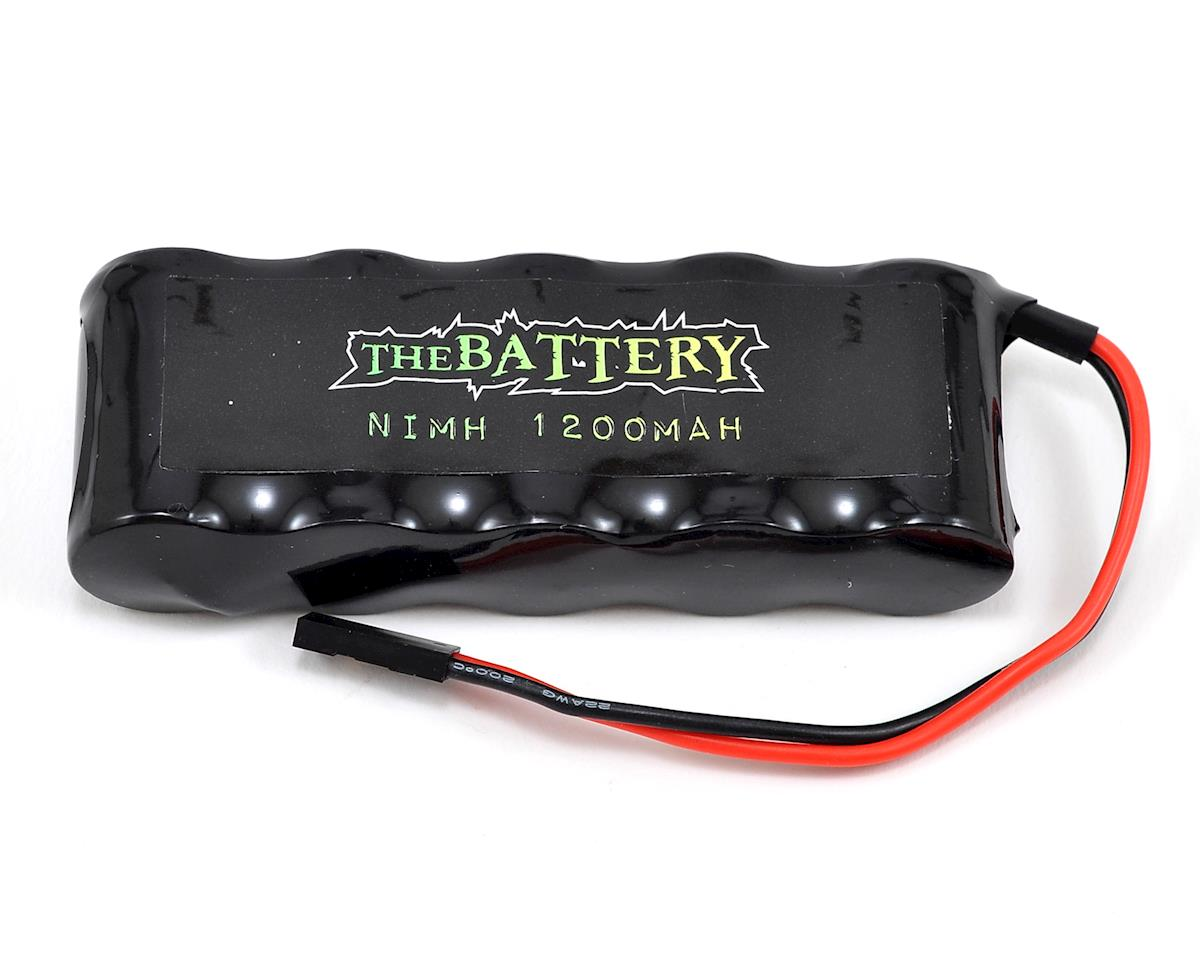JQRacing 5-Cell 6.0V NiMH Flat Receiver Battery Pack (1200mAh)