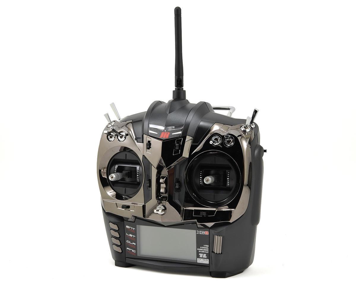 JR XG8 8-Channel DMSS Aircraft Radio System w/RG831B Receiver (Black)