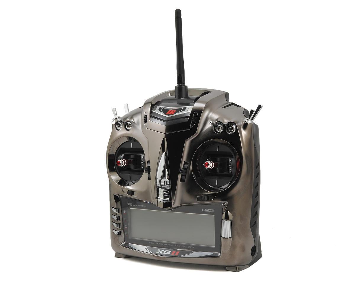 JR XG11 11-Channel DMSS Aircraft Radio System w/RG1131B (Titanium)