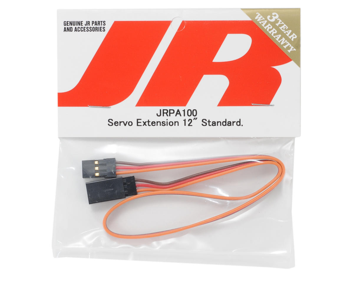 "JR Standard Servo Extension (12"" - Gold)"