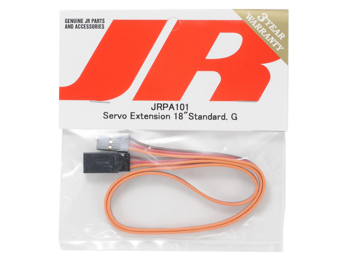 "JR Standard Servo Extension (18"" - Gold)"