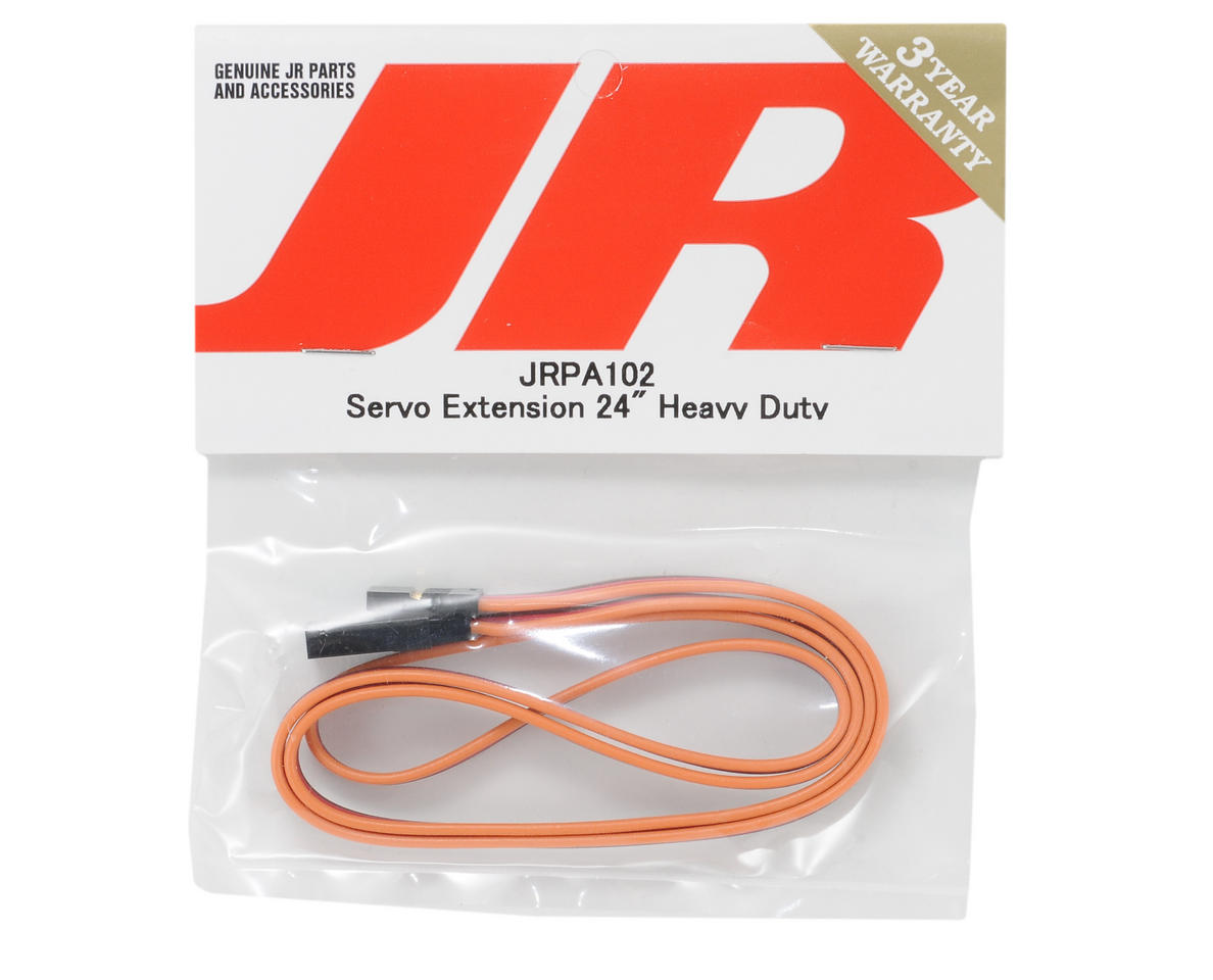 "JR Heavy Duty Servo Extension (24"" - Gold)"
