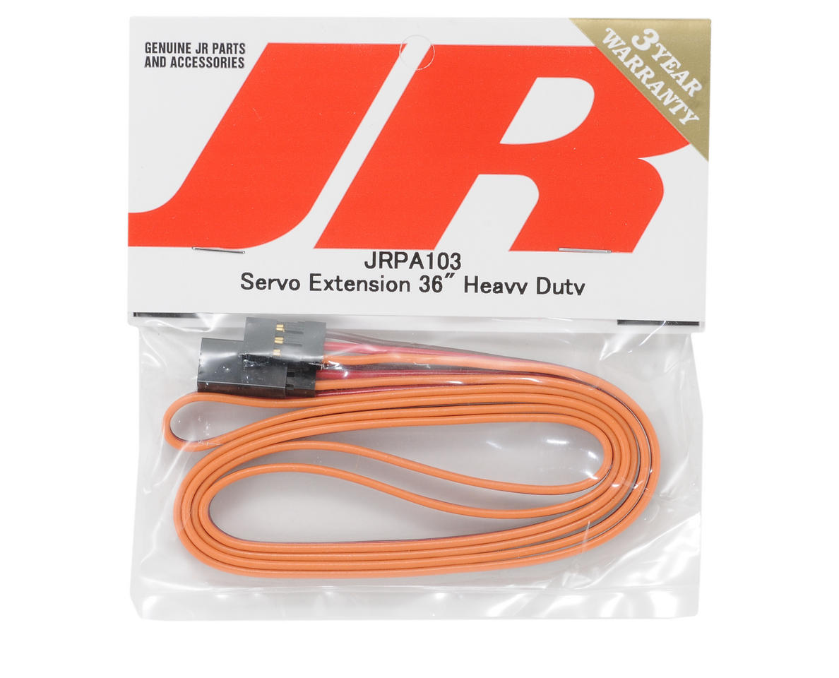 "JR Heavy Duty Servo Extension (36"" - Gold)"