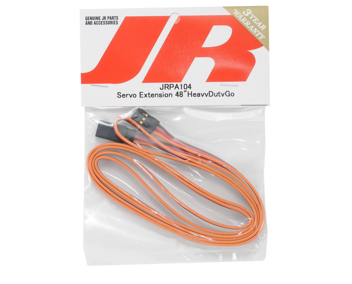 "JR Heavy Duty Servo Extension (48"" - Gold)"