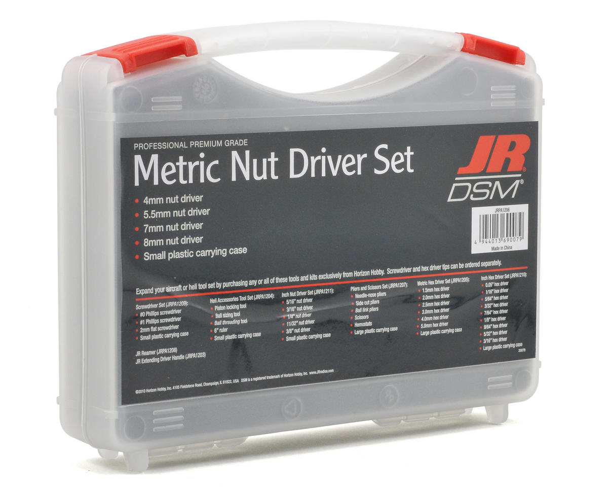 JR Metric Nut Driver Set (4)