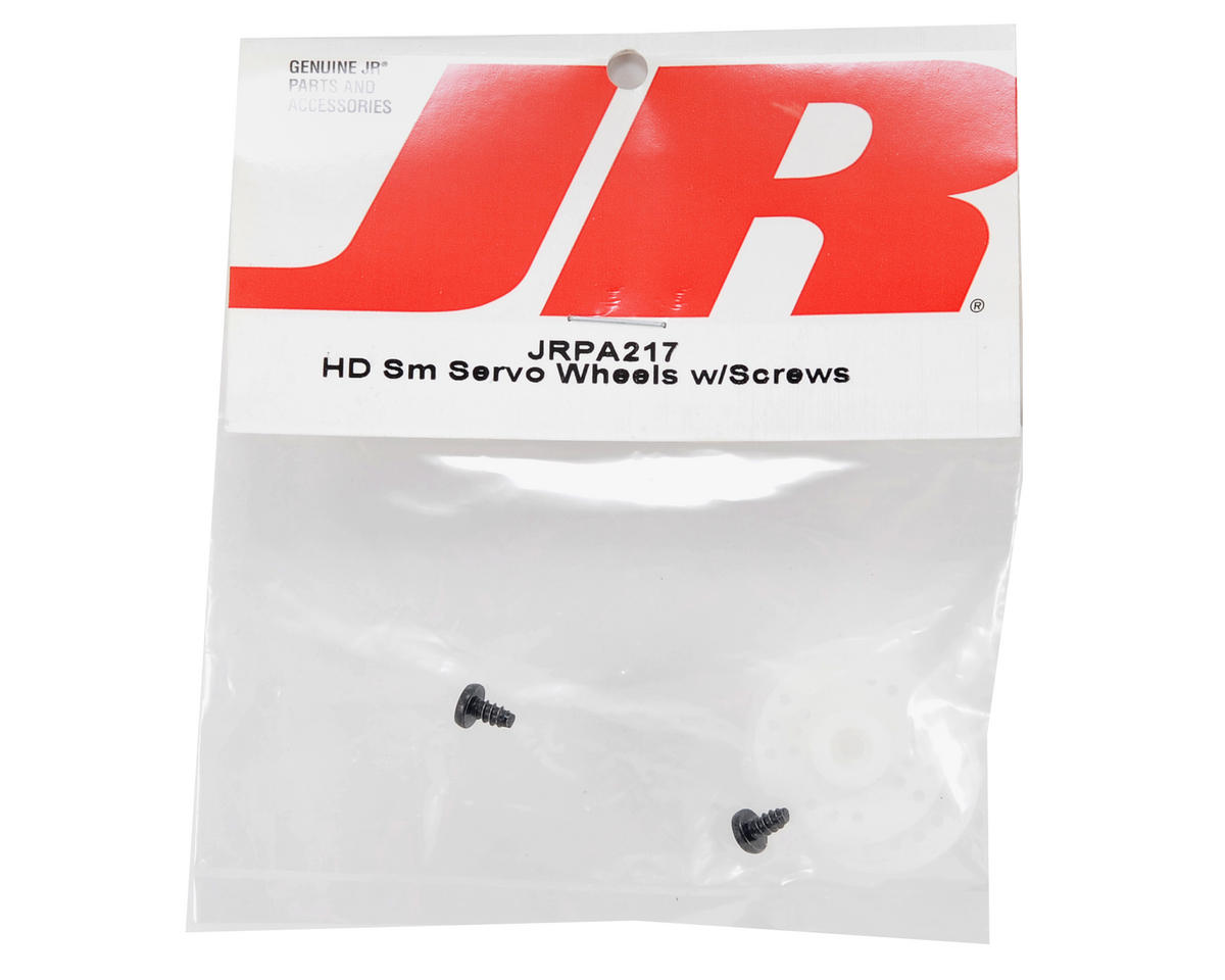 JR HD Small Servo Wheels w/Screws (2)