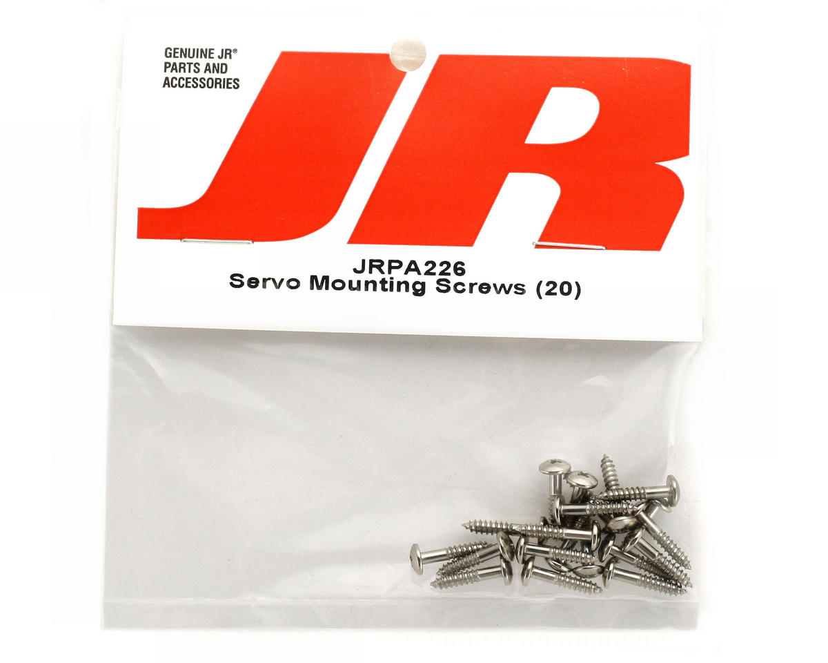 JR Servo Mounting Screws (20)
