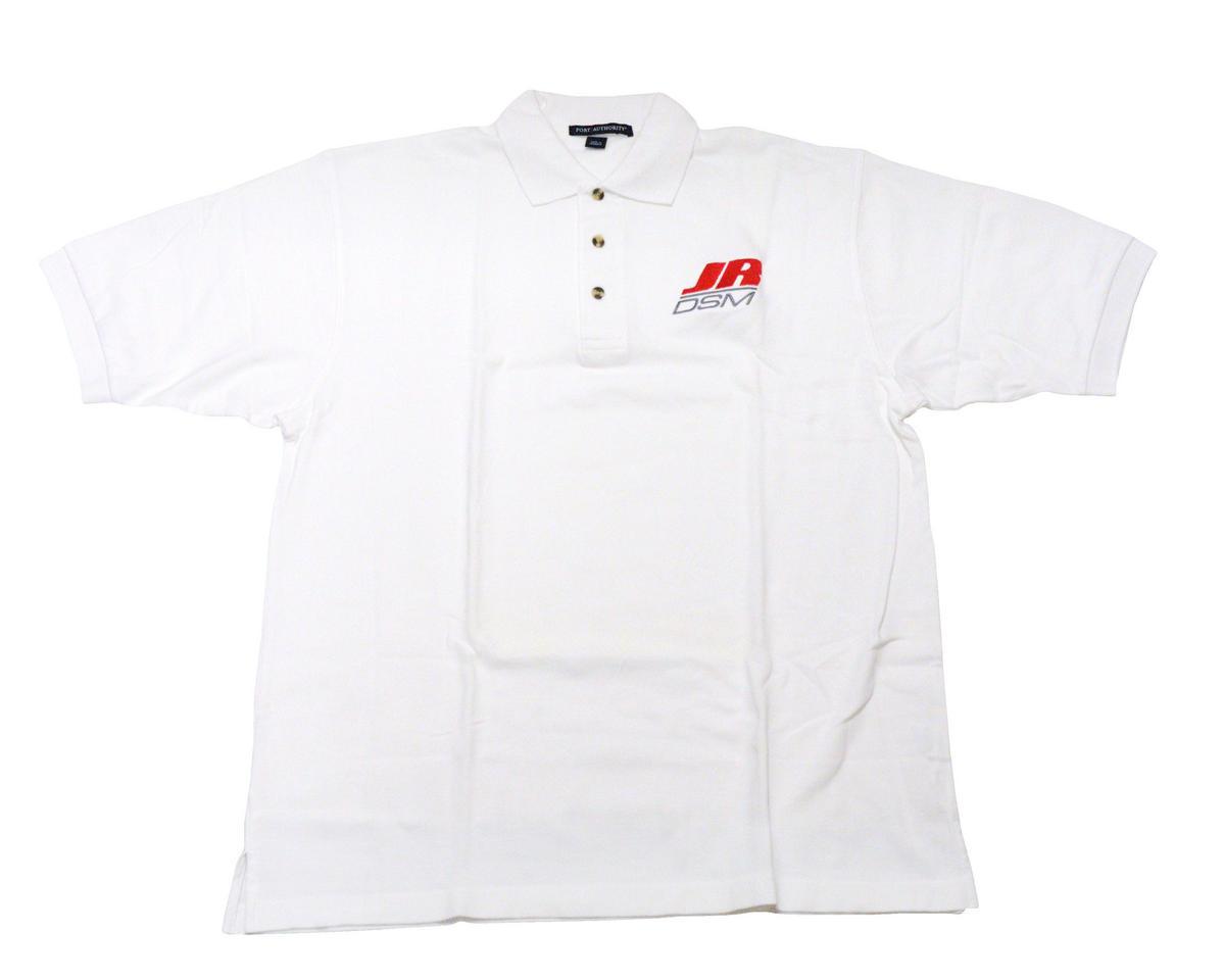JR DSM White Polo Shirt (2X-Large)