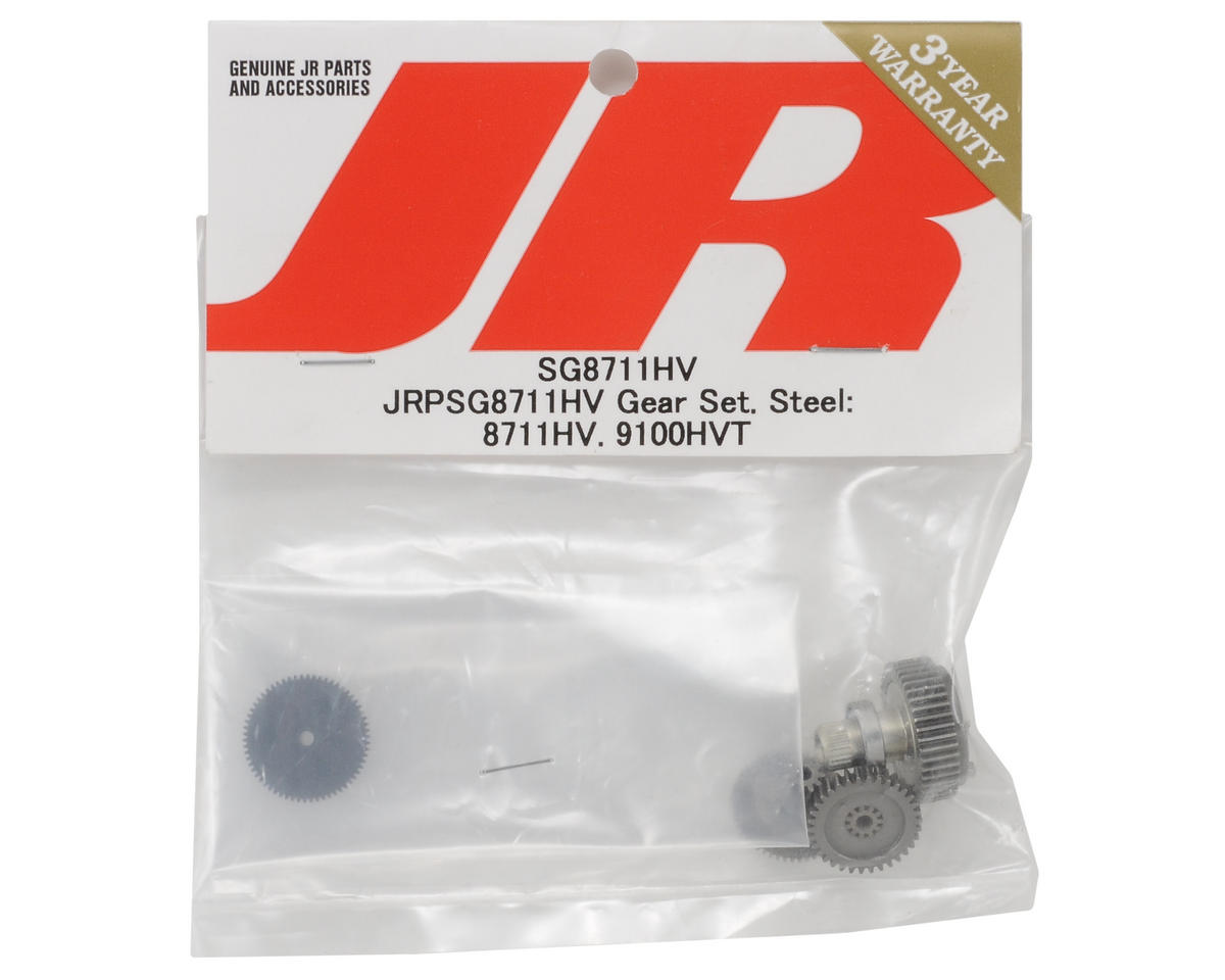 JR Steel Servo Gear Set (8711HV, 9100HVT)