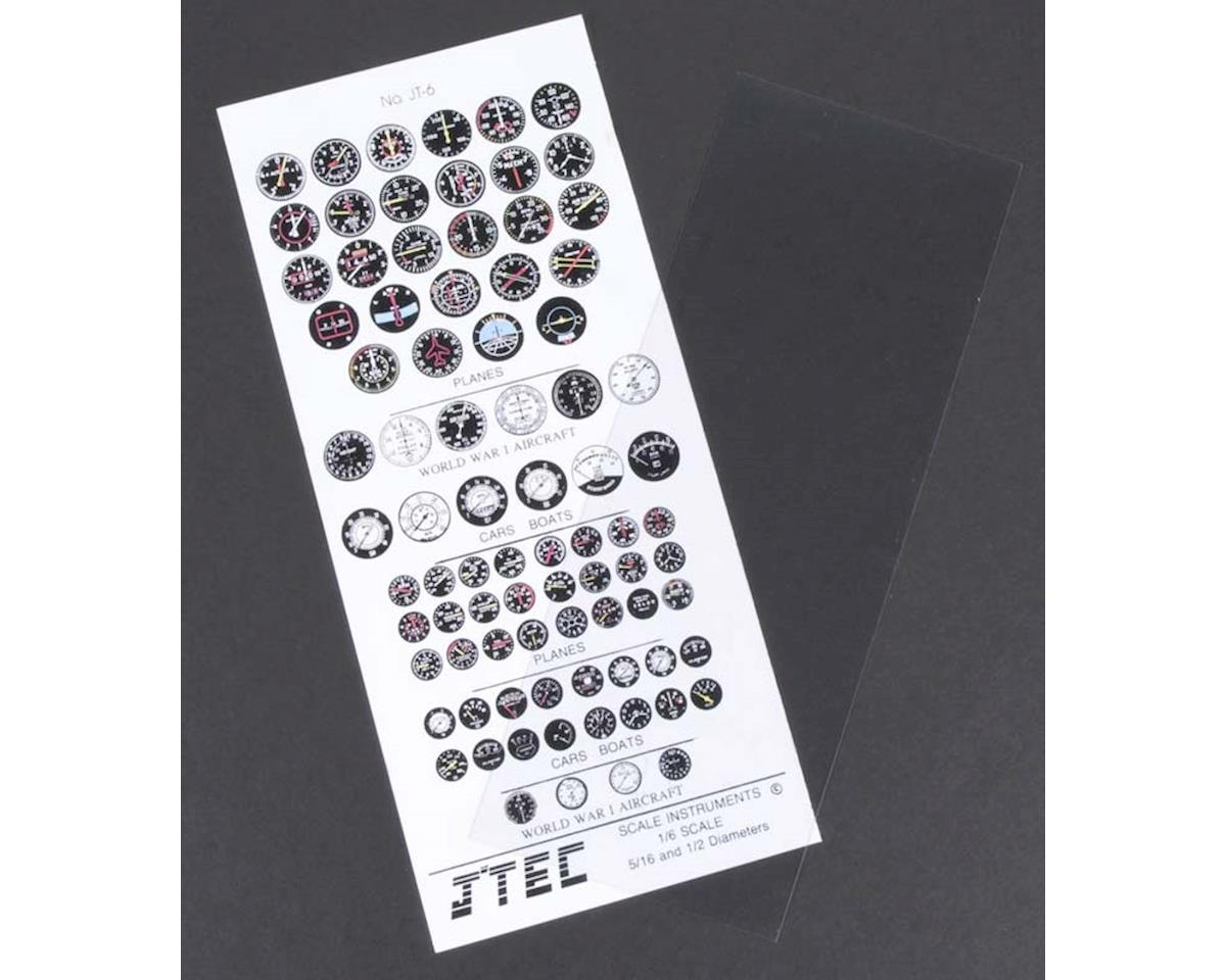 JTC6C 1/6 Instrument Panel Transfer Decal Sheet Color