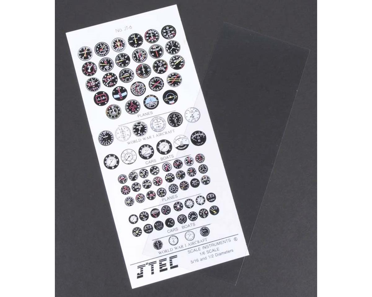 J'TEC Radiowave JTC6C 1/6 Instrument Panel Transfer Decal Sheet Color