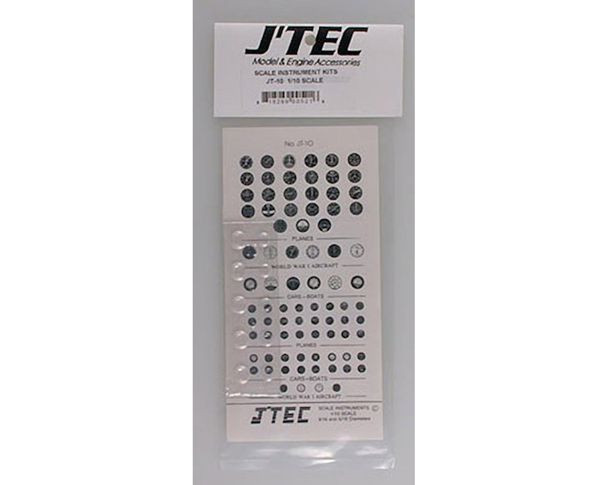 JT-10 1/10 Instrument Panel Transfer Decal Sheet B/W