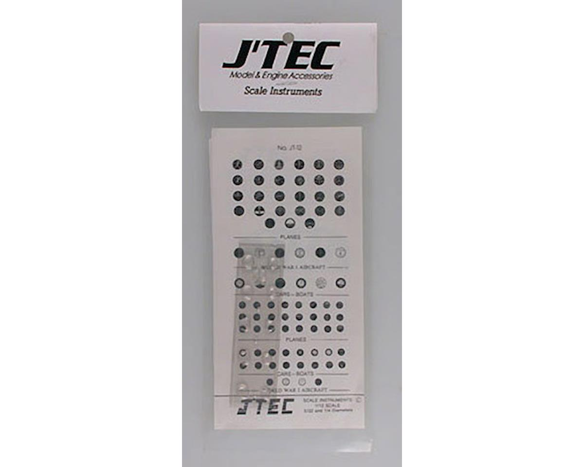 J'TEC Radiowave JT-12 1/12 Instrument Panel Transfer Decal Sheet B/W