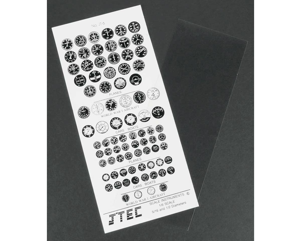 JT-6 1/6 Instrument Panel Transfer Decal Sheet B/W