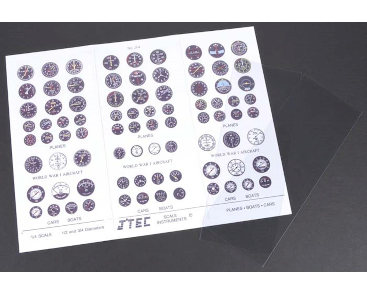 J'TEC Radiowave JT4C 1/4 Instrument Panel Transfer Decal Sheet Color
