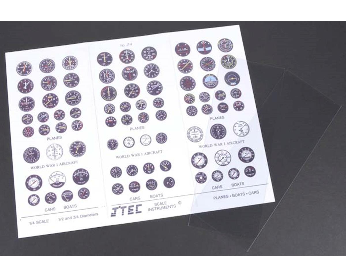 J'TEC Radiowave JT4C 1/4 Instrument Panel Transfer Decal Sheet Color