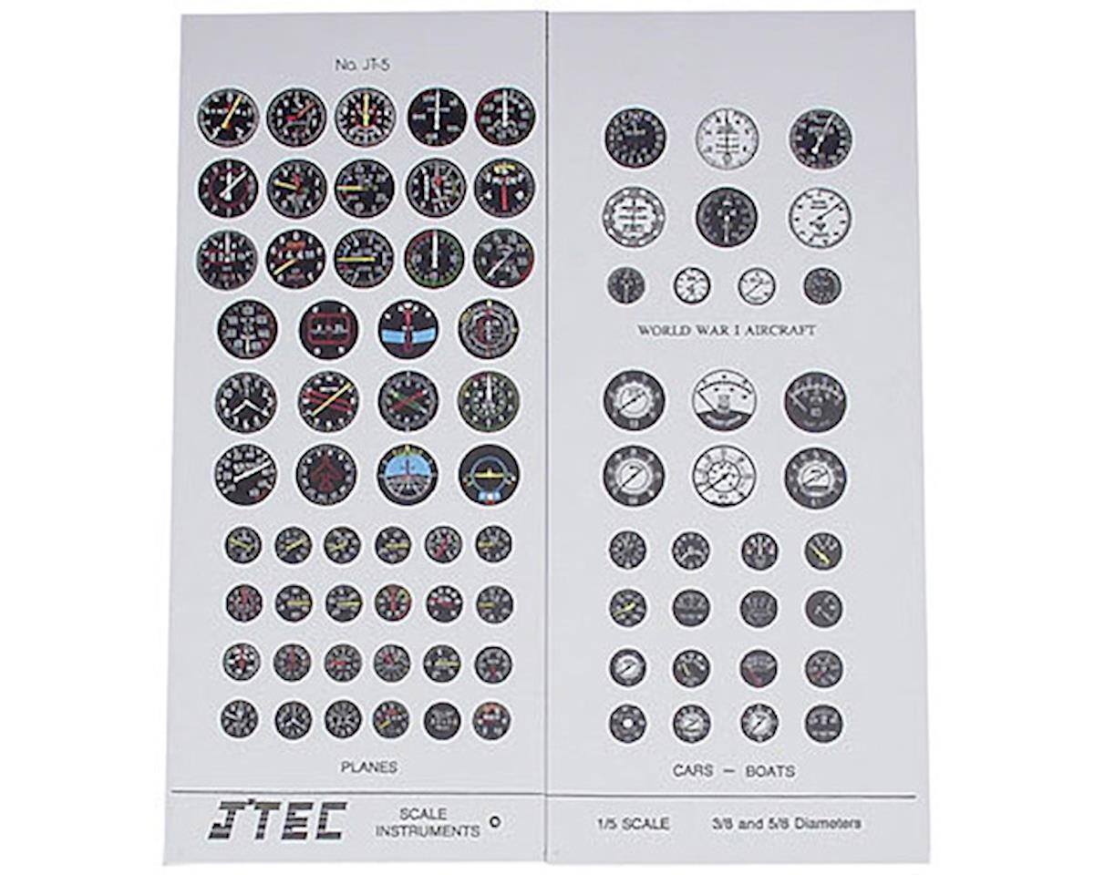 J'TEC Radiowave JT5C 1/5 Instrument Panel Transfer Decal Sheet Color