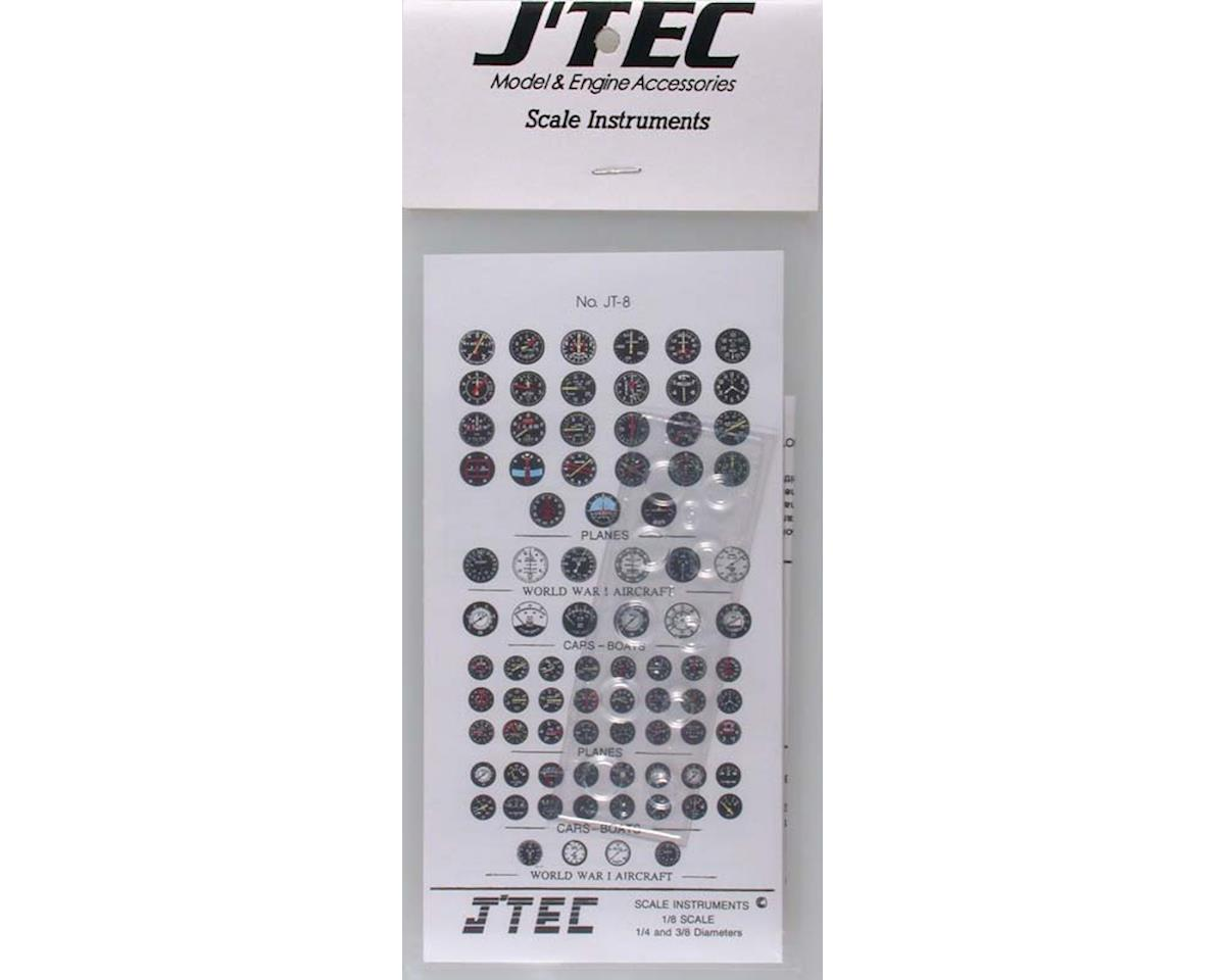 J'TEC Radiowave JT8C 1/8 Instrument Panel Transfer Decal Sheet Color
