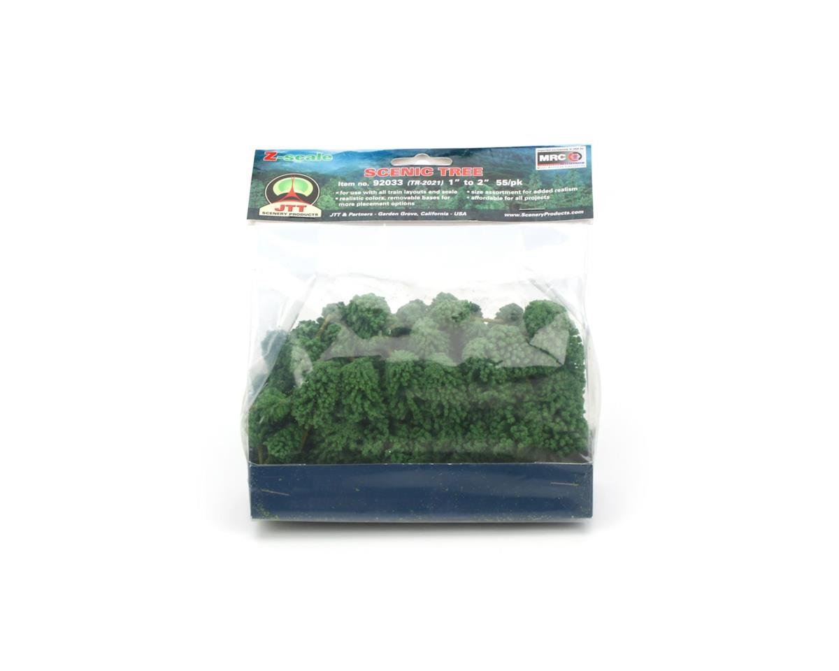 "JTT Scenery Super Scenic Tree, Evergreene 1-2"" (55)"