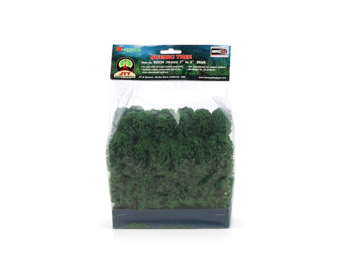 "JTT Scenery Super Scenic Tree, Evergreen 2-3"" (36)"
