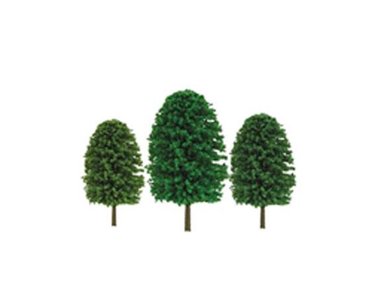 "JTT Scenery Super Scenic Tree, Evergreen 3-4"" (24)"